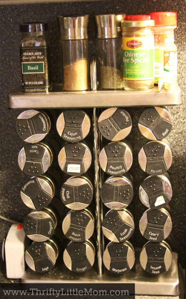 Cluttered Spice Rack