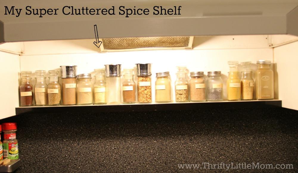 Cluttered Spice Shelf
