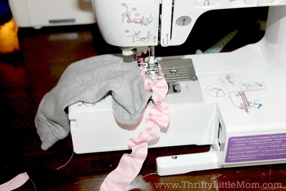 Sewing Ribbon on Leggings