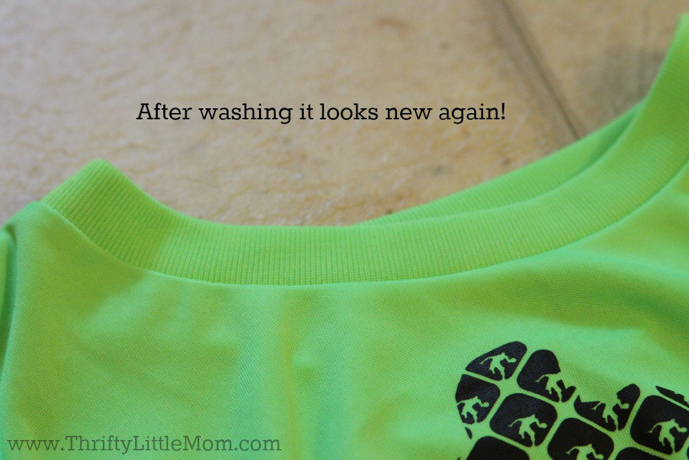 Stains gone after washing!