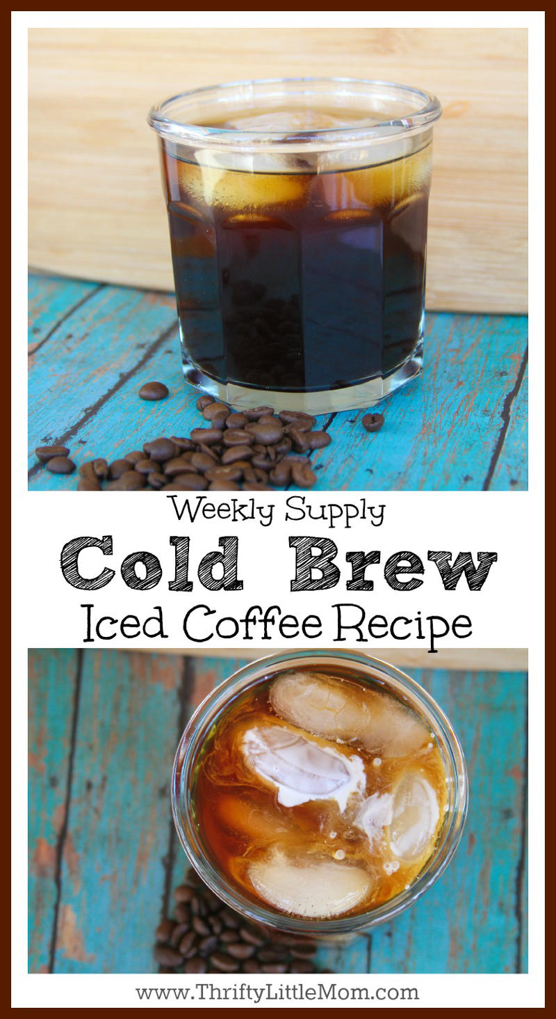Weekly Supply Cold Brew Iced Coffee Recipe. Super simple recipe for making a whole weeks worth of perfect iced coffee