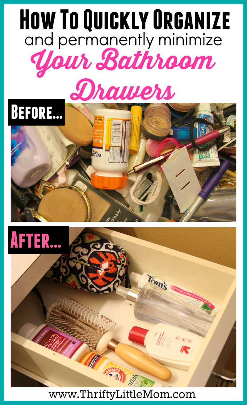 How To Quickly Organize Your Bathroom Drawers