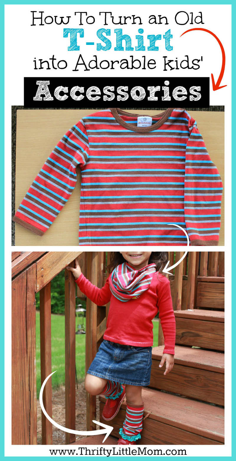 How to Turn an Old T-shirt into Adorable Kids accessories