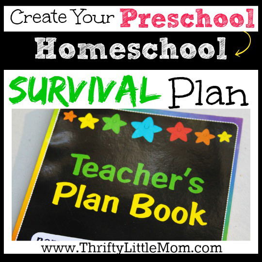 Preschool Homeschool Survival Plan