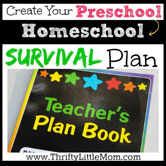 Preschool Homeschool Survival Plan