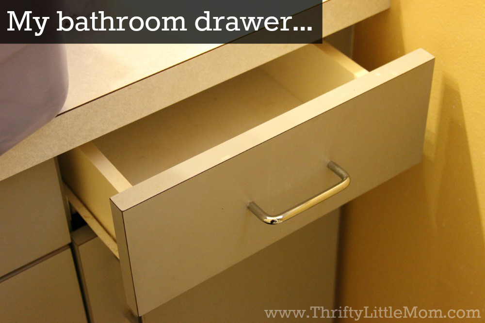 organize your bathroom drawer ideas