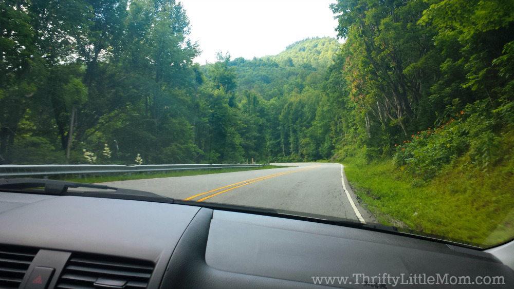 Car Ride Through Mountains