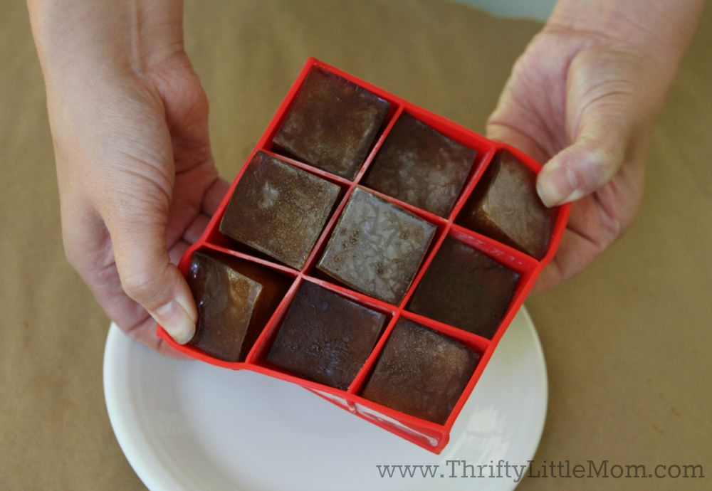 Popping Out Iced Coffee Cubes