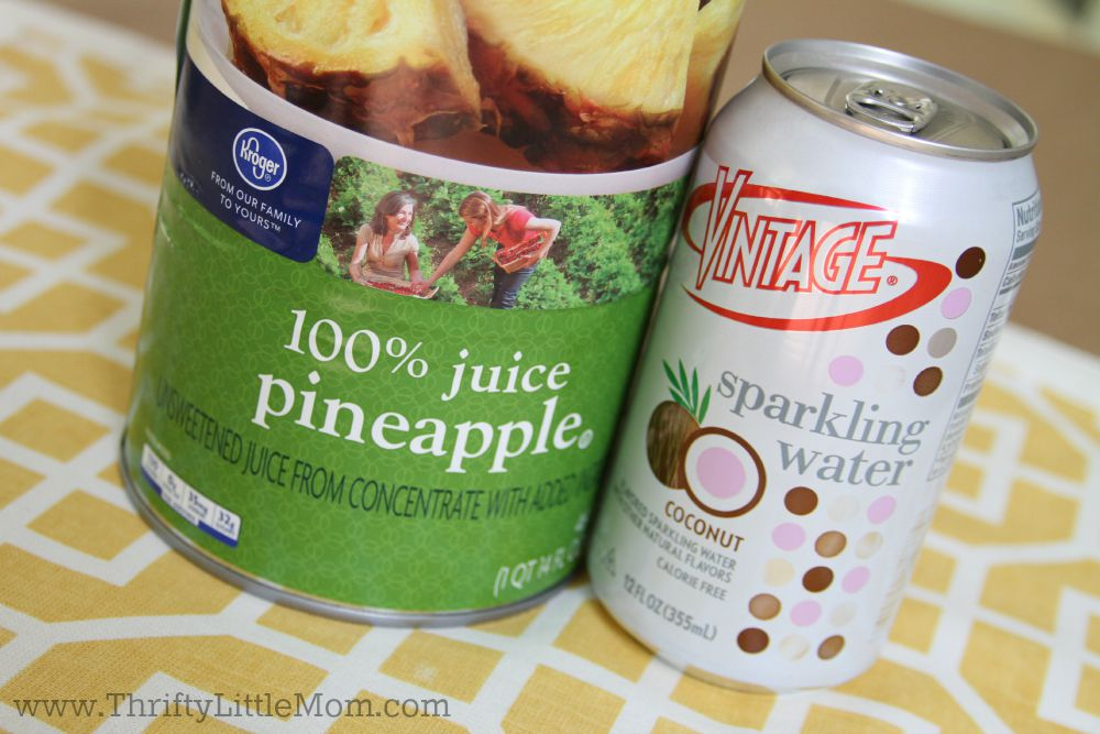 Vintage Sparkling Pineapple Drink