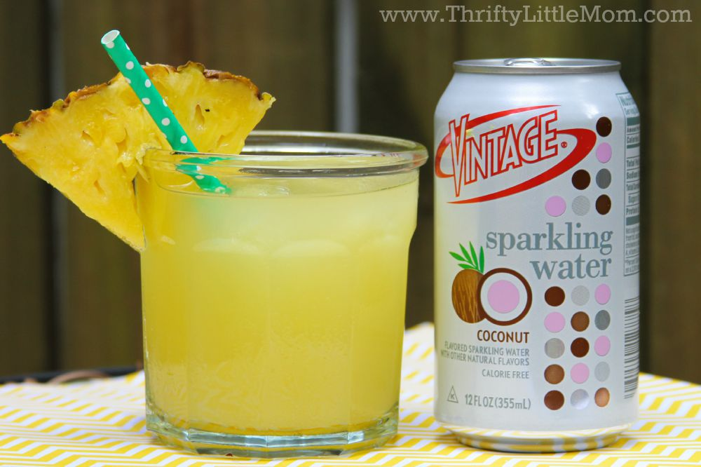 Vintage Sparkling Water Pineapple Drink Recipe