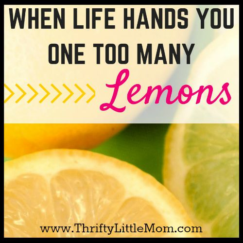 When Life Hands You One Too Many Lemons