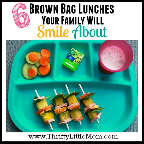 Brown Bag Lunches Your Family Will Smile About