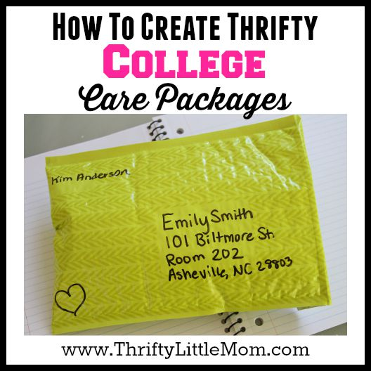 Create Thrifty College Care Packages