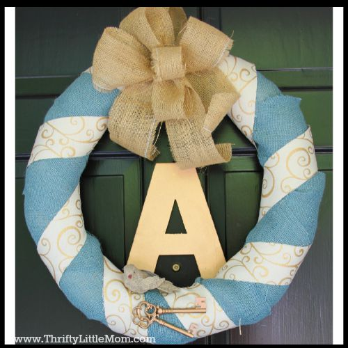 Personalized Burlap Letter Wreath Tutorial