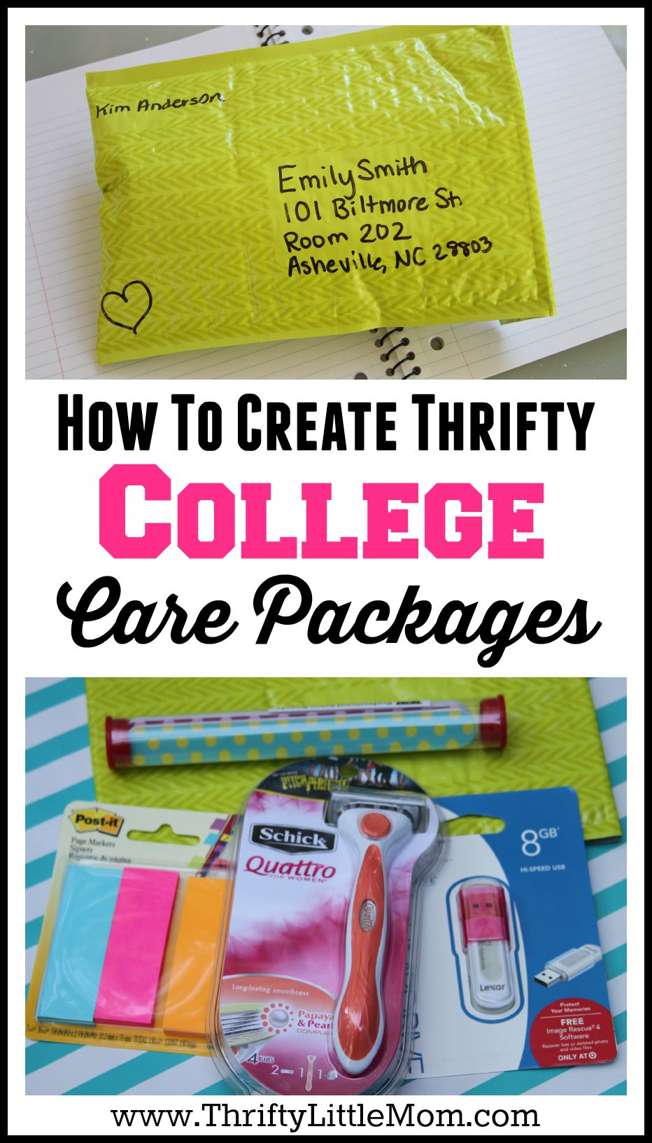 How To Create Thrifty College Care Packages