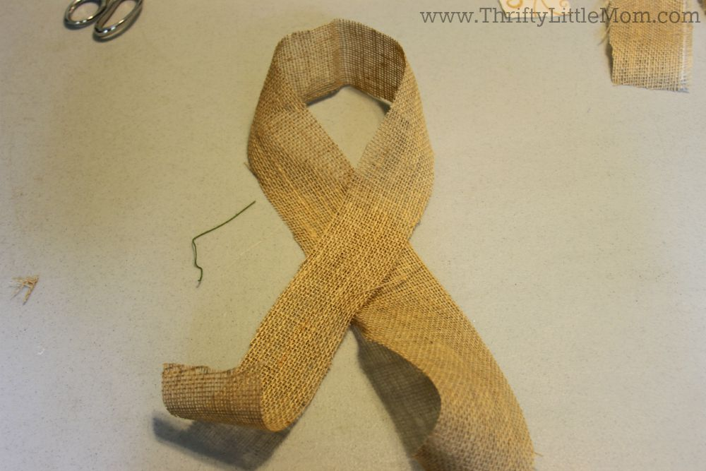 How To Make A Simple Burlap Bow Step 1