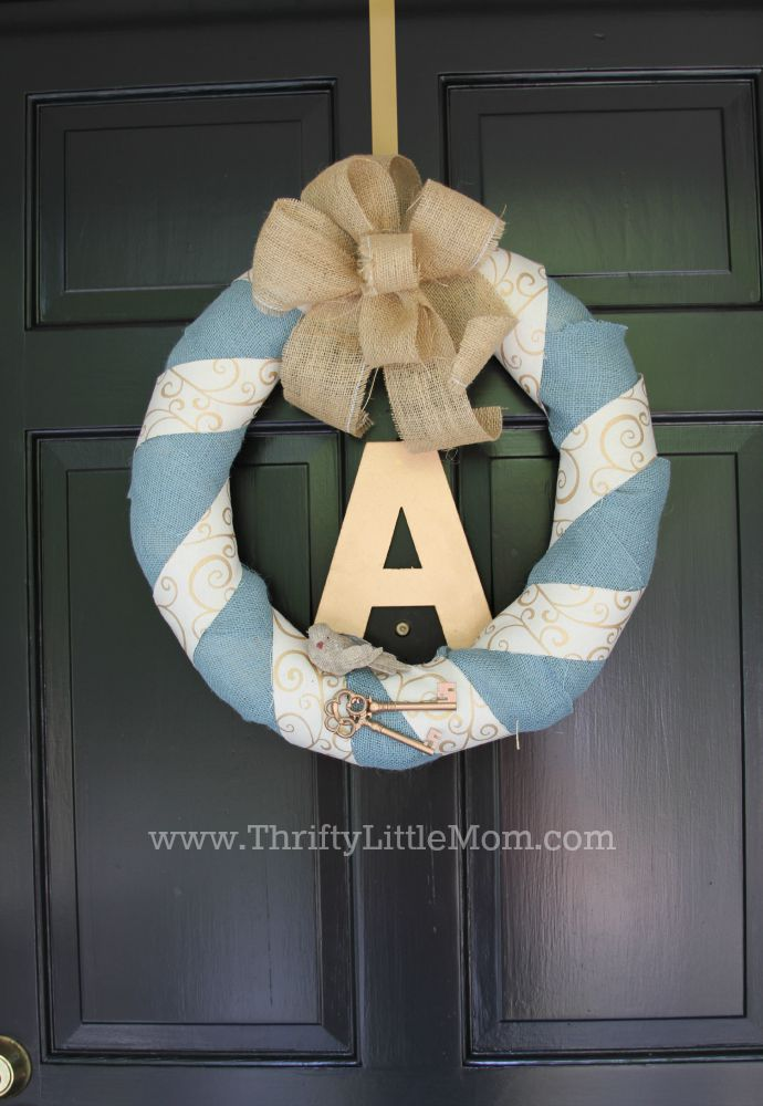 Personalized Burlap Letter Wreath Final