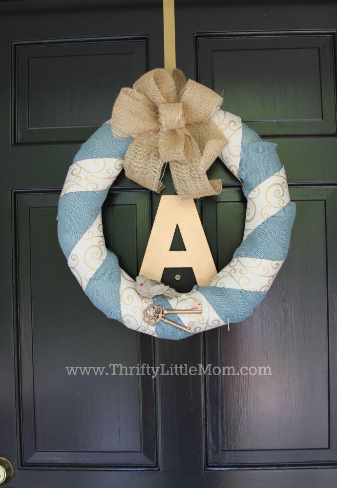 Personalized Burlap Letter Wreath Final