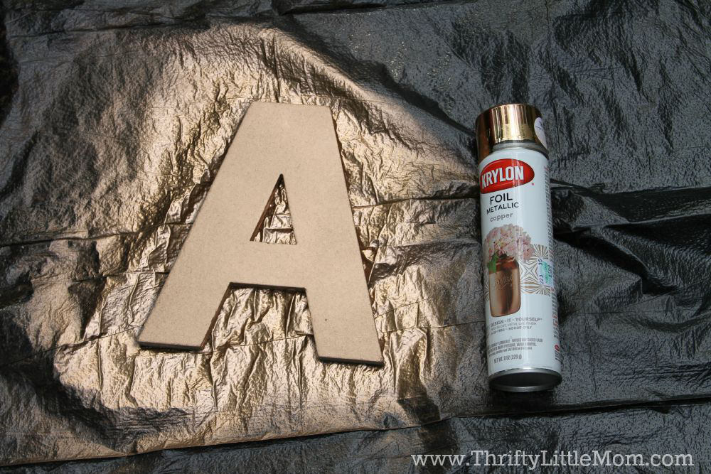 Personalized Burlap Letter Wreath Paint