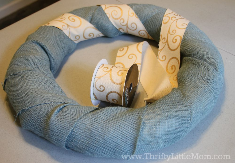 Personalized Burlap Letter Wreath Ribbon