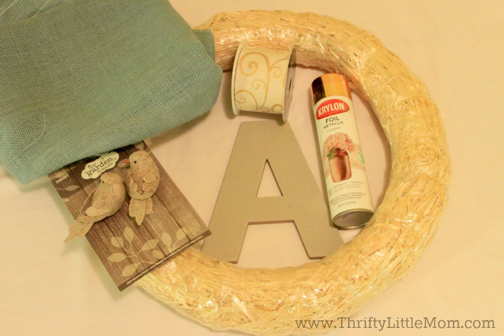 Personalized Letter Wreath Supplies