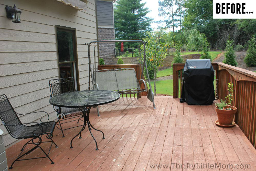 Before Thrifty Deck Makeover Grill