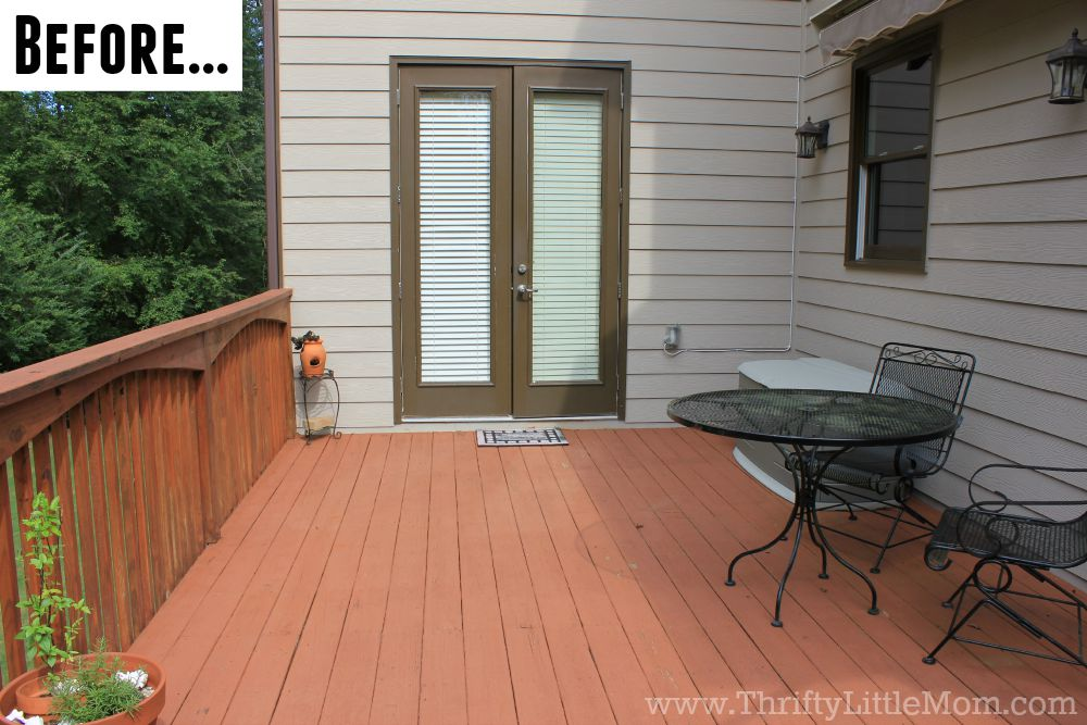 Before Thrifty Deck Makeover