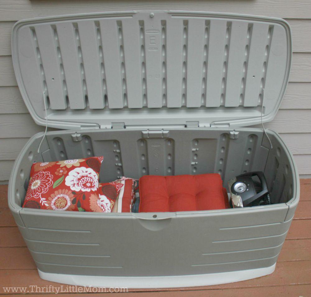 Deck Makeover Storage