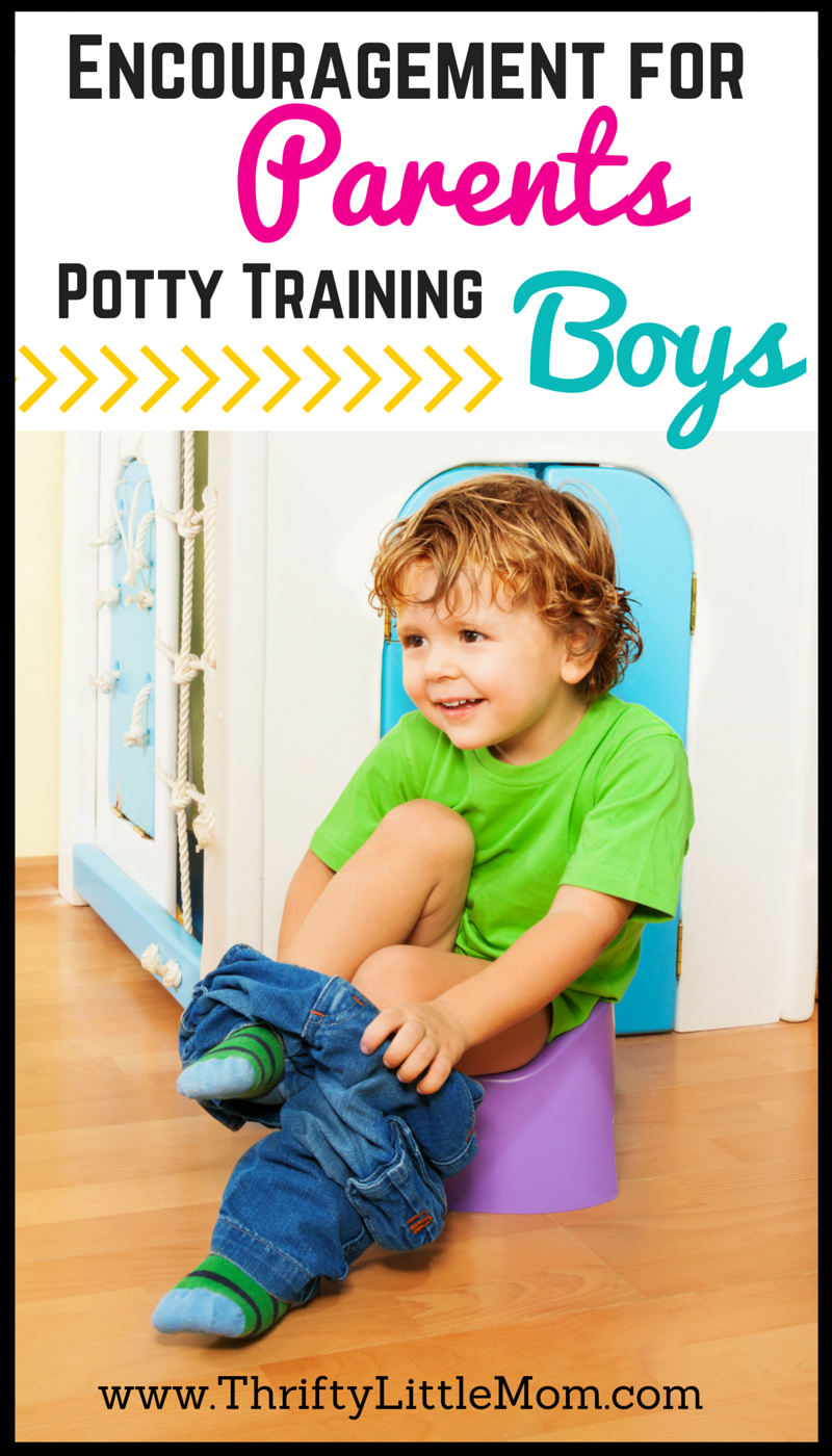 Encouragment for Parents Potty Training Boys