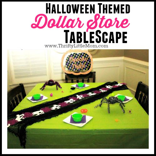 Halloween Themed Dollar Store Tablescape