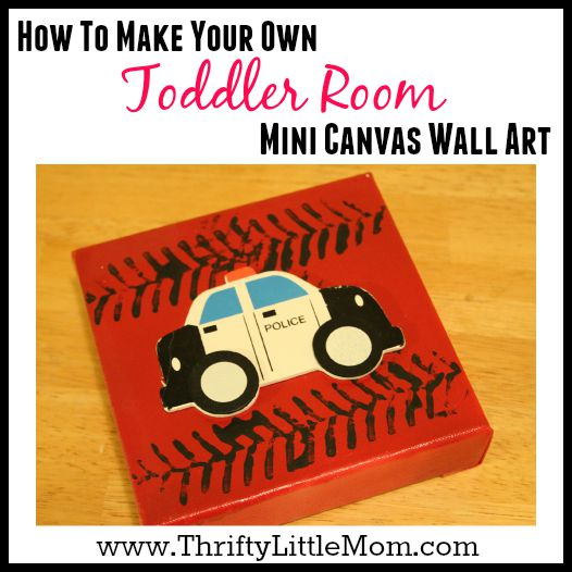 Mini Canvas Wall Art For a Toddler Room