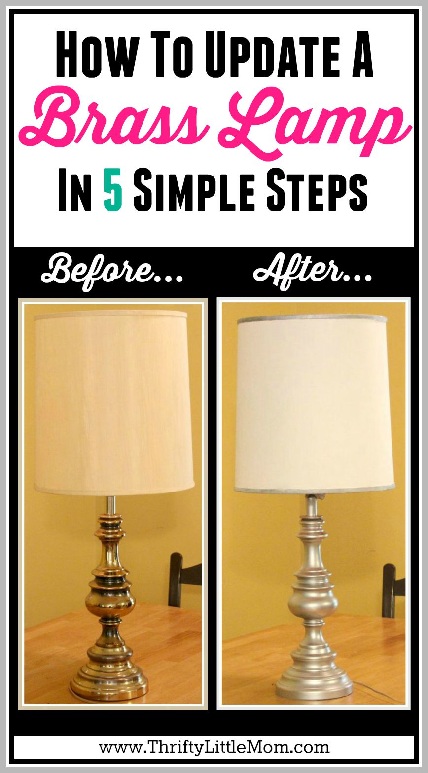 How to Update a Brass Lamp in 5 Simple Steps. I made this $5 Estate Sale lamp the perfect match for my new living room decor in just 5 steps.