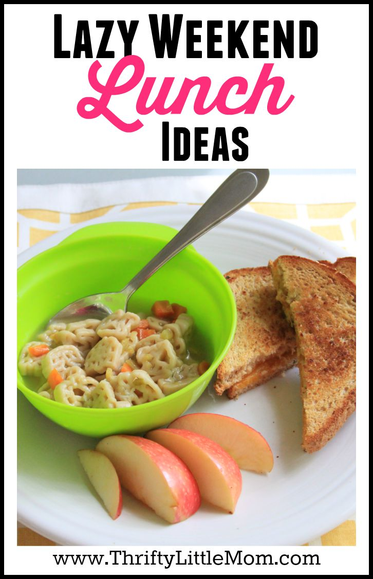 Lazy Weekend Lunch Ideas. Looking for some fun weekend lunch ideas. Check out these tips