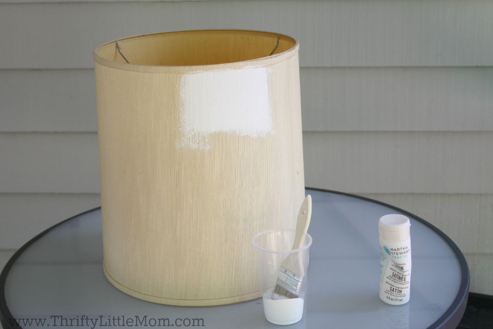 Painting a white lampshade for Lamp shade painting ideas