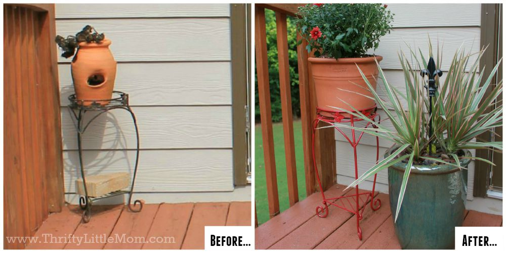 Patio Makeover Plant Stand