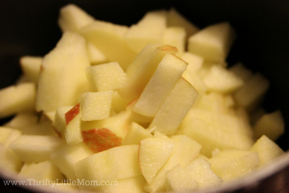 Quick & Easy Homemade Apple Turnover Diced Apples