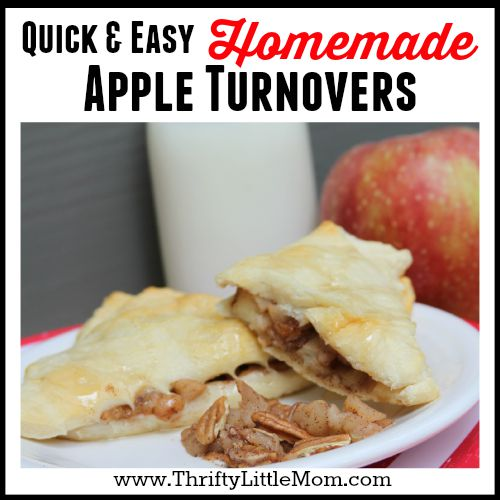 Quick and Easy Homemade apple turnover recipe