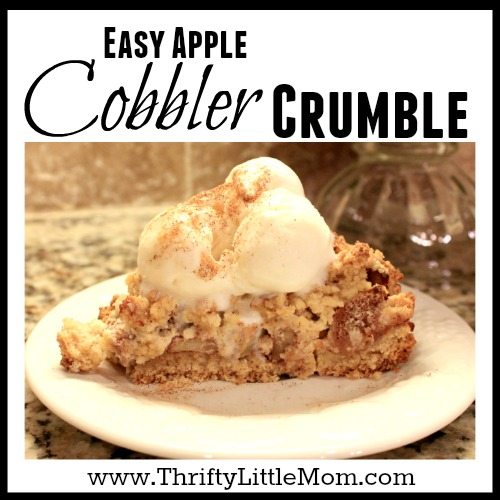 Apple Cobbler Crumble Recipe