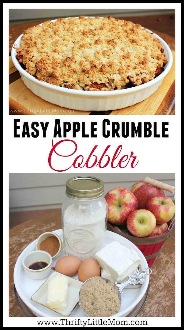 Easy Apple Crumble Cobbler