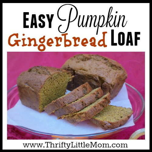 Easy Pumpkin Gingerbread Loaf