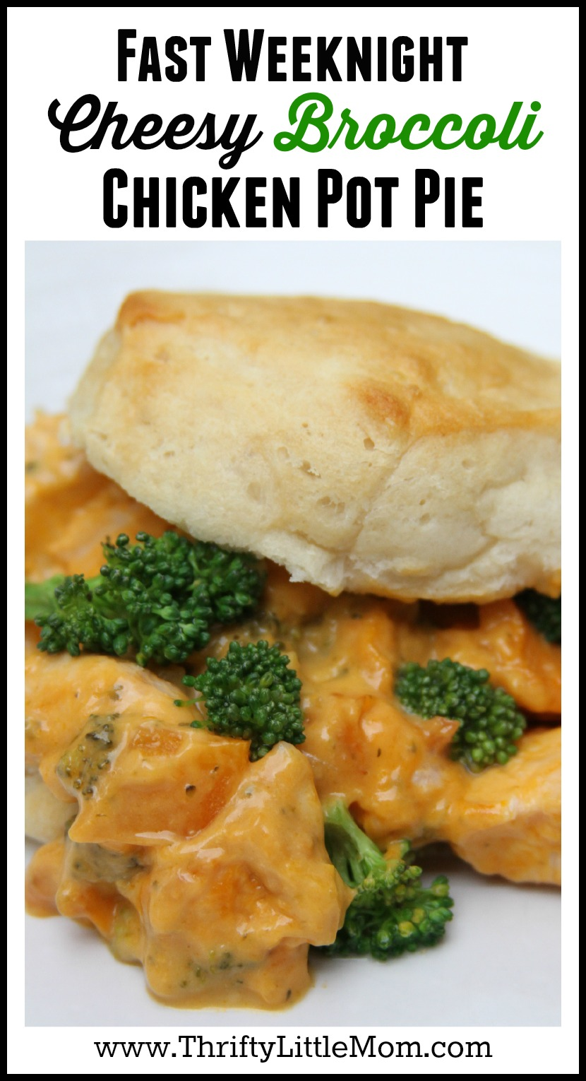 Fast Weeknight Cheesy Broccoli Chicken Pot Pie made using Campbell's Oven Sauces. #ad