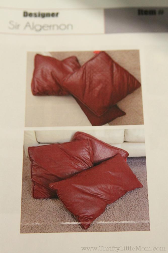 Pillows for dress design
