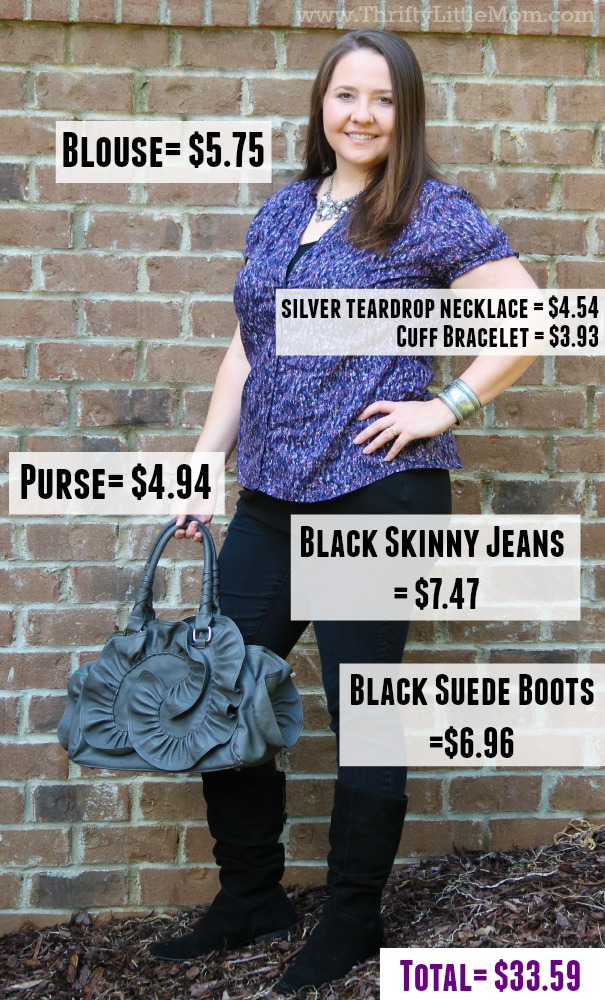 Price Breakdown of Goodwill Outfit 1