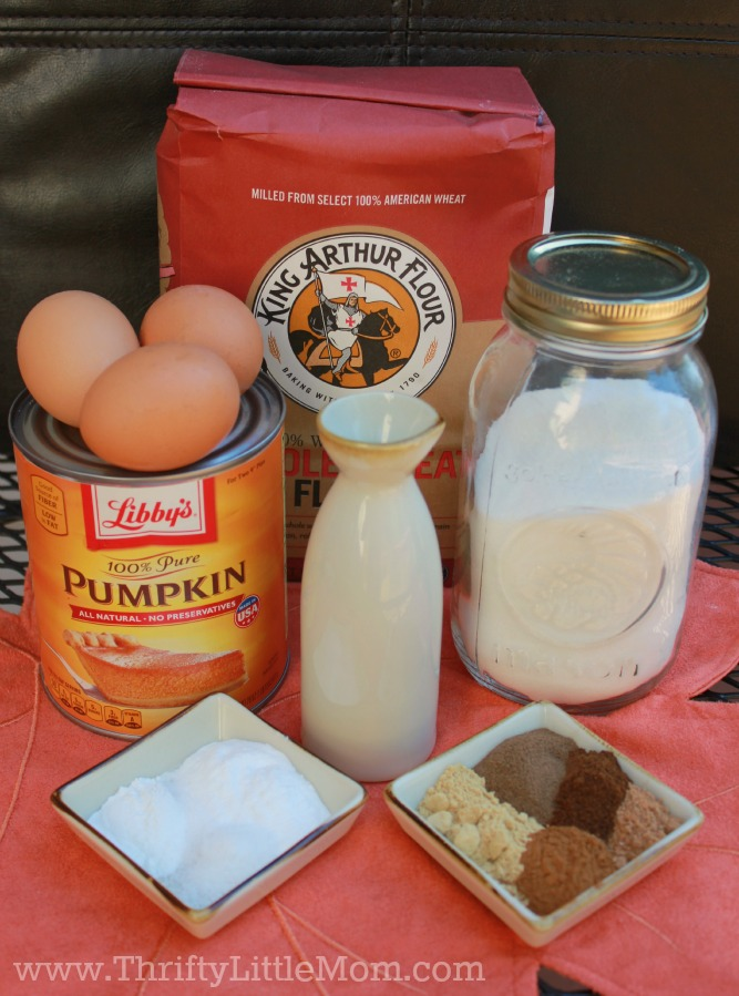 Pumpkin Gingerbread Ingredients
