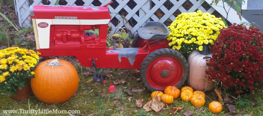 Tractor Pumpkin Fall Decor