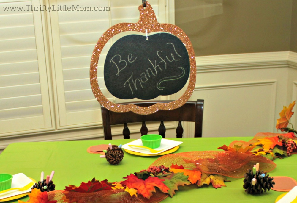 Be Thankful Pumpkin hanger