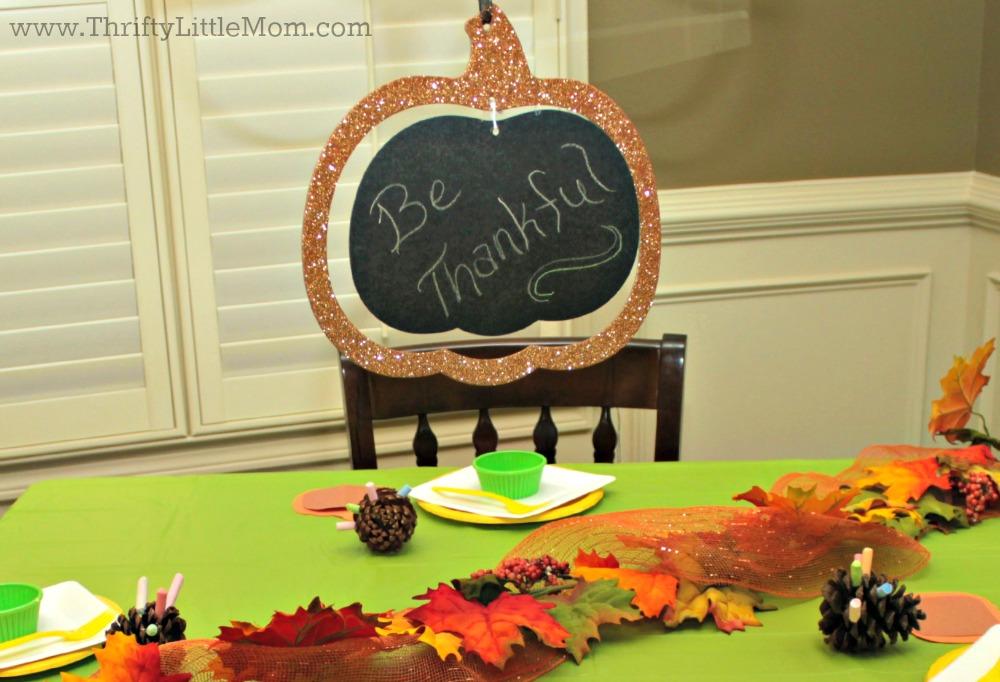 Be Thankful Pumpkin hanger