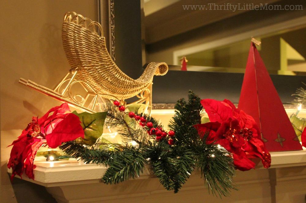 Christmas Mantel Set Up