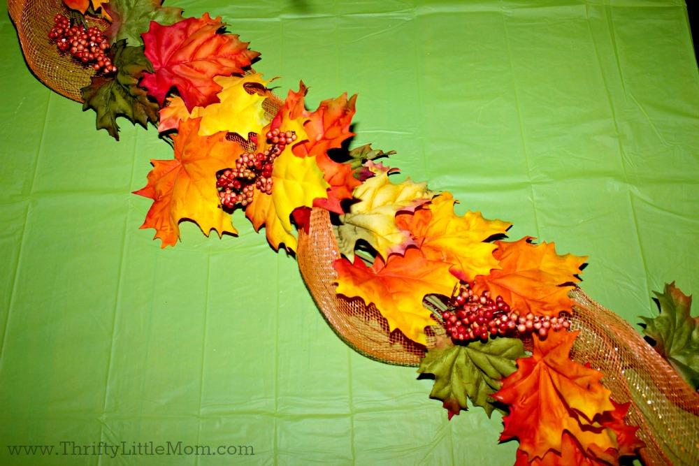 Dollar Store Thanksgiving Table Runner