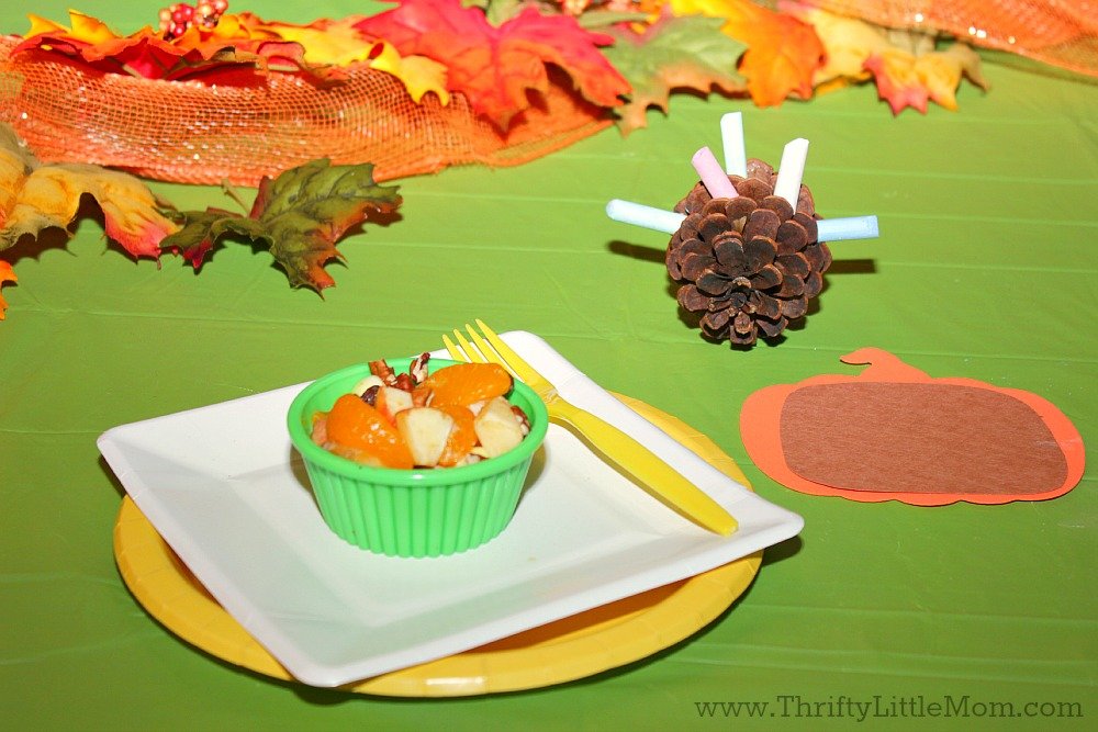 Dollar Store Thanksgiving Table Settings